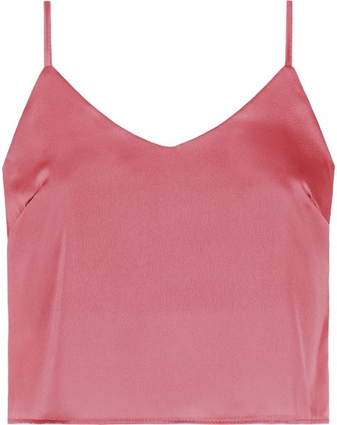 SATIN SLIP TOP BLUSH