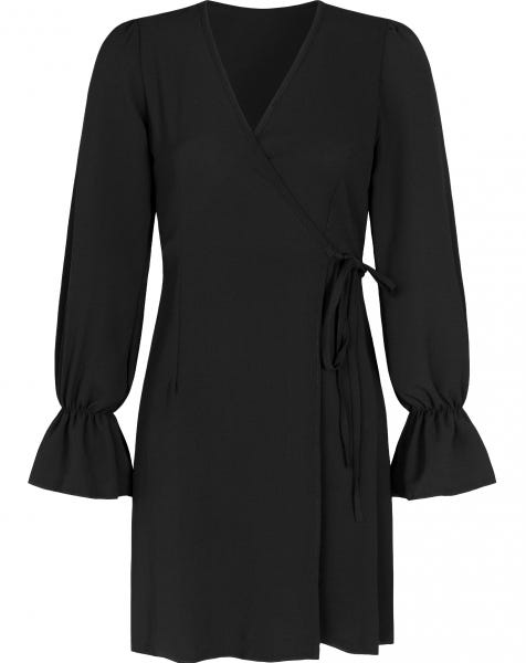 DOLLY WRAP DRESS BLACK