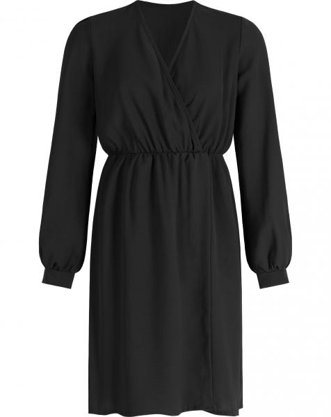ROSE WRAP DRESS BLACK