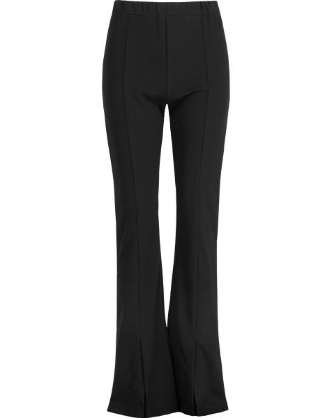 FLARED SPLIT PANTS BLACK
