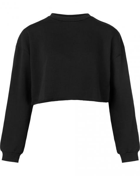 ALLY CROPPED SWEAT BLACK