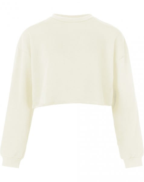 ALLY CROPPED SWEAT CREAM
