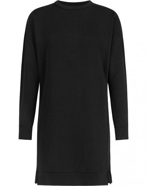 SWEATER SPLIT DRESS BLACK