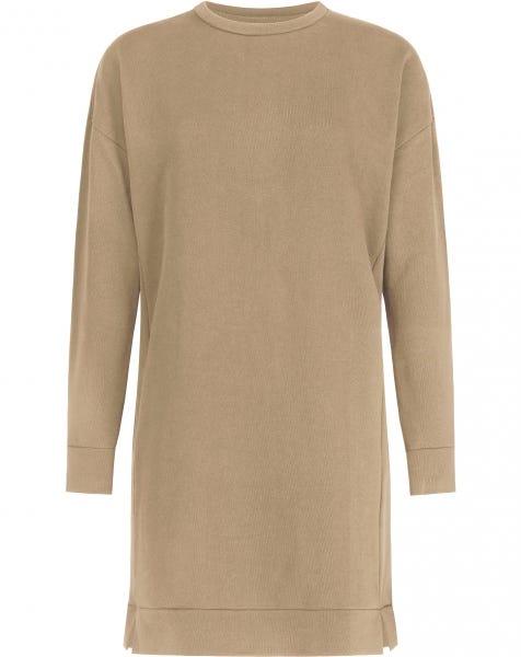 SWEATER SPLIT DRESS CAMEL