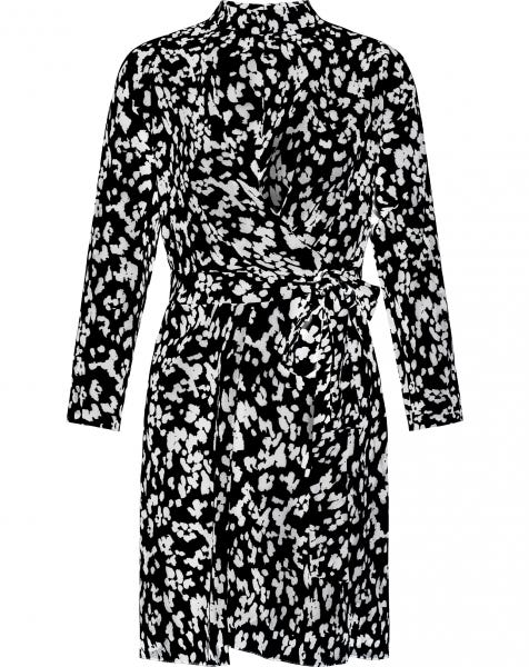 MADDIE CHEETA DRESS BLACK