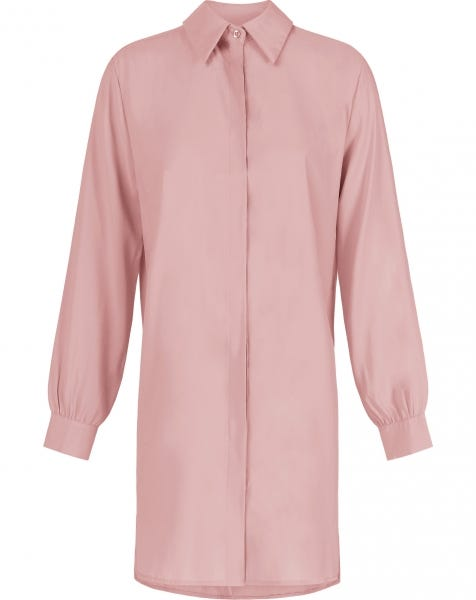 ESSENTIAL BLOUSE DRESS DUSTY ROSE