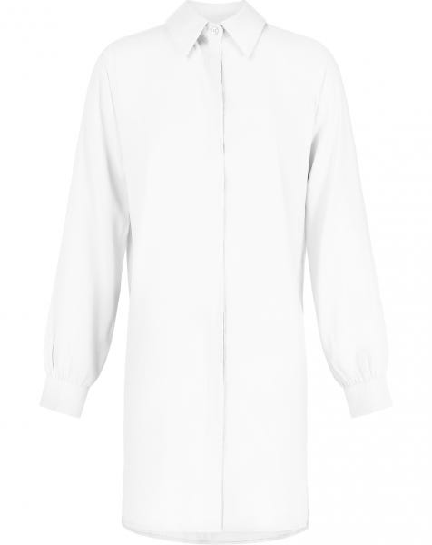ESSENTIAL BLOUSE DRESS WHITE