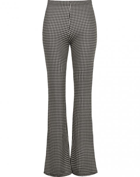 STRETCHY FLARED PANTS PIED DE POULE
