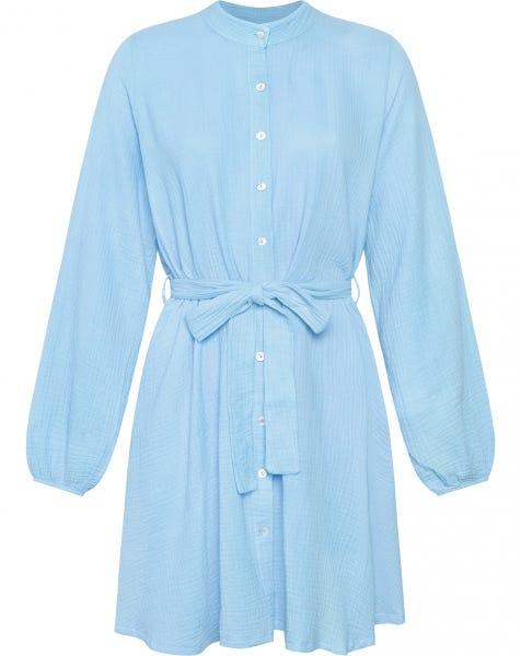 MOUSSELINE DRESS BLUE