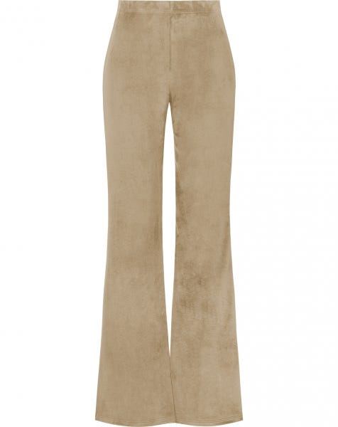 COSY FLARED PANTS BEIGE