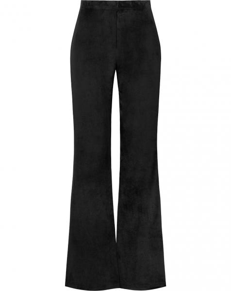 COSY FLARED PANTS BLACK