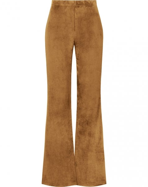 COSY FLARED PANTS CAMEL