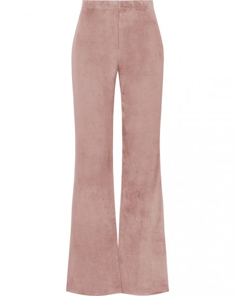 COSY FLARED PANTS DUSTYROSE