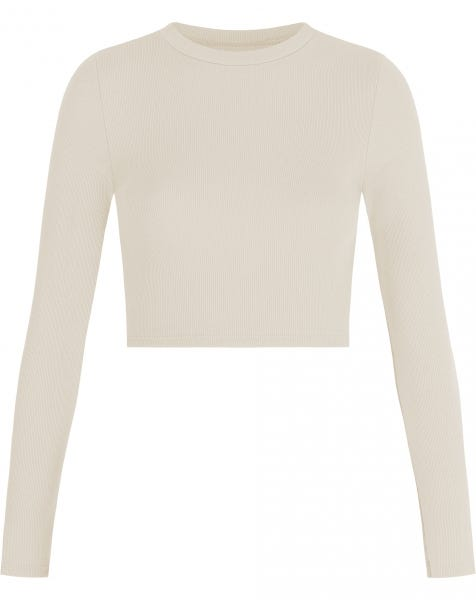 HOLLY LS CROP TOP BEIGE