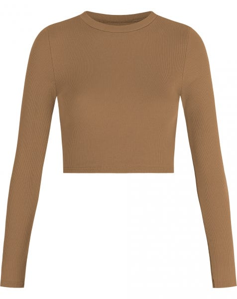 HOLLY LS CROP TOP CAMEL