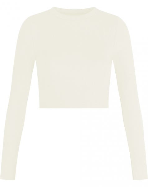 HOLLY LS CROP TOP CREAM