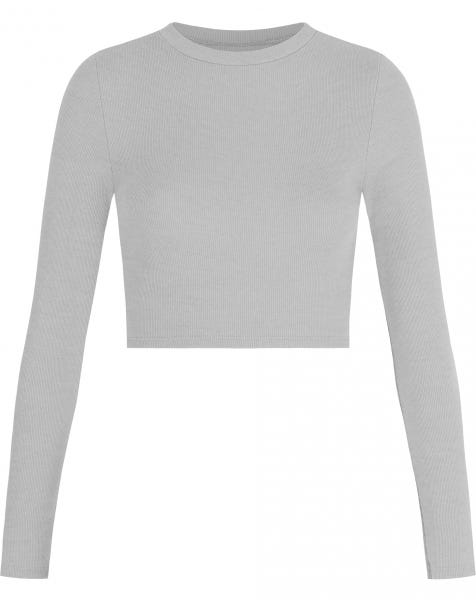 HOLLY LS CROP TOP GREY
