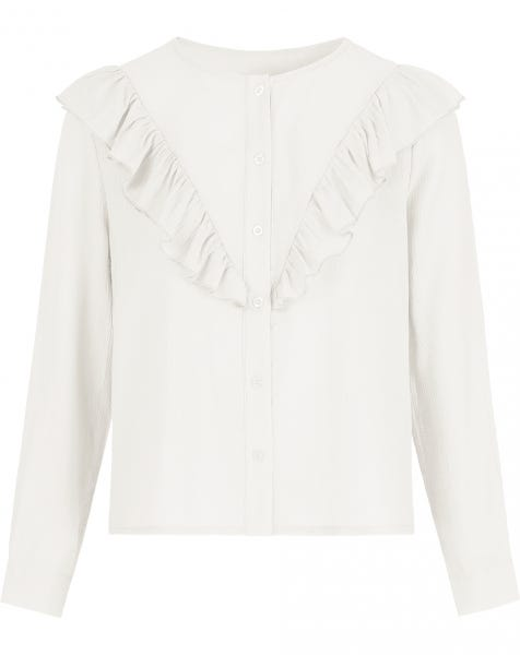MILLIE RUFFLE BLOUSE CREAM