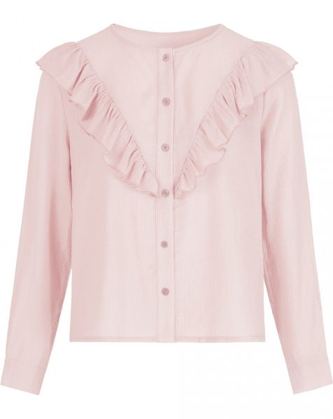 MILLIE RUFFLE BLOUSE PINK