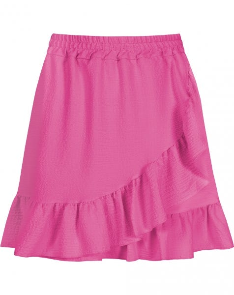 RUFFLE WRAP BUBBLE SKIRT FUCHSIA