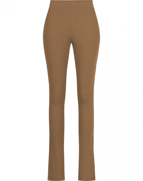 HOLLY SPLIT LEGGING CAMEL