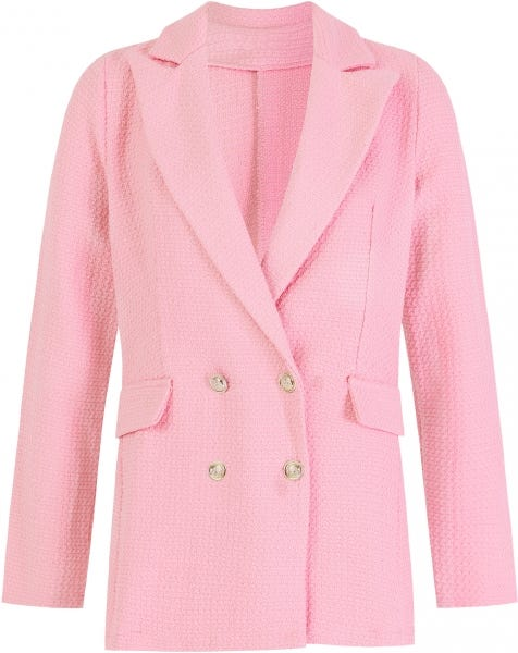 SOLID BOUCLE JACKET PINK