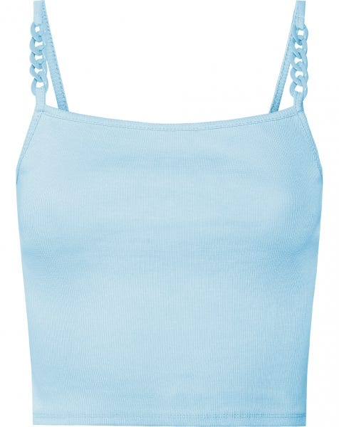 RIBBED CHAIN TOP BLUE