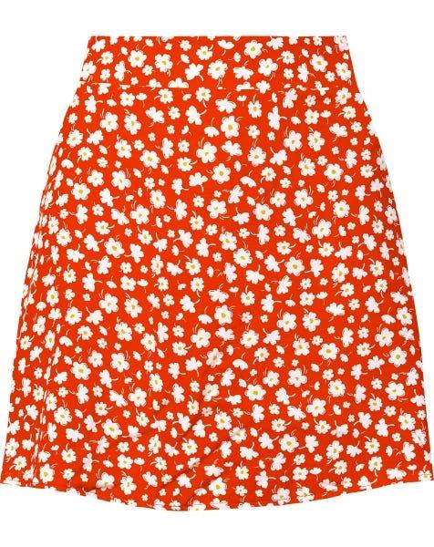 JACKIE FLOWERS SKORT RED