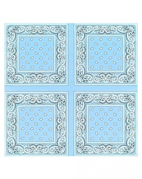 PAISLEY SCARF BLUE