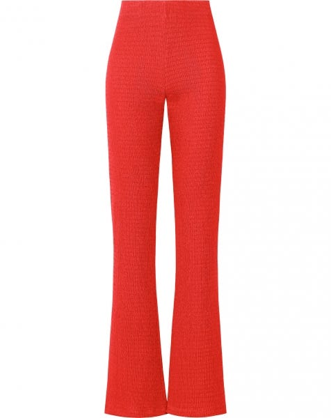 MILLIE FLARED PANTS RED