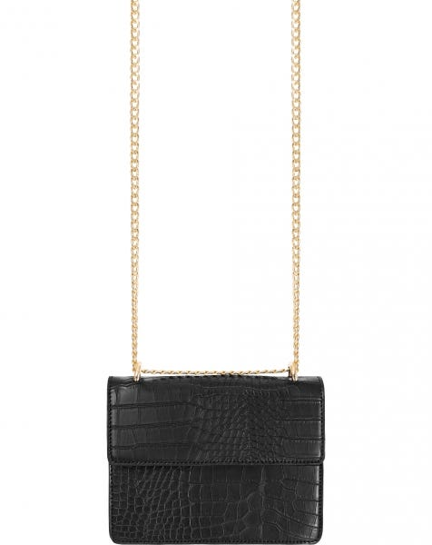 CROCO BAG BLACK