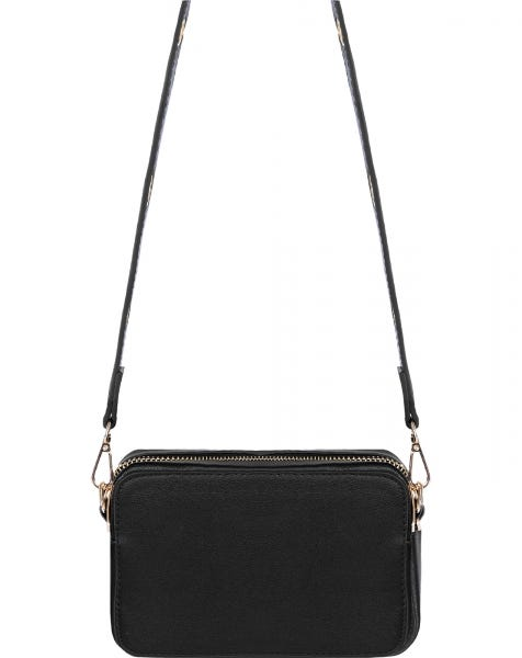 EYELETS BAG BLACK GOLD