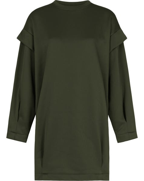 NENA OVERSIZED SWEATER DRESS ARMY