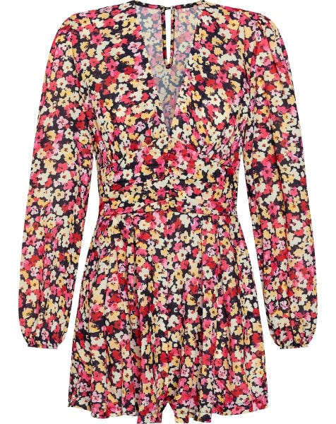 FLORA PLAYSUIT RED
