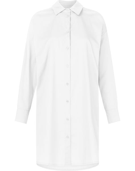 OVERSIZED BLOUSE DRESS WHITE