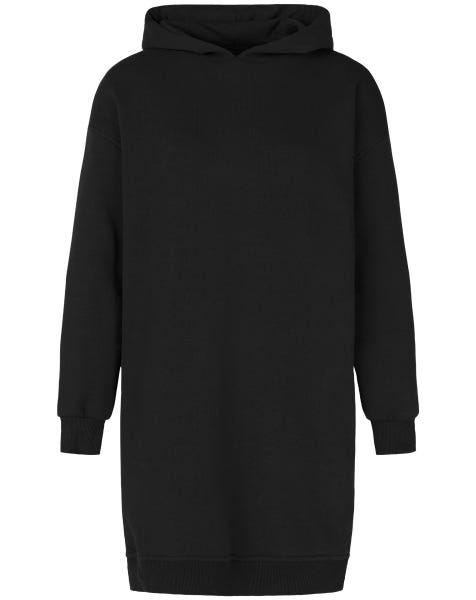 OVERSIZED HOODIE DRESS BLACK