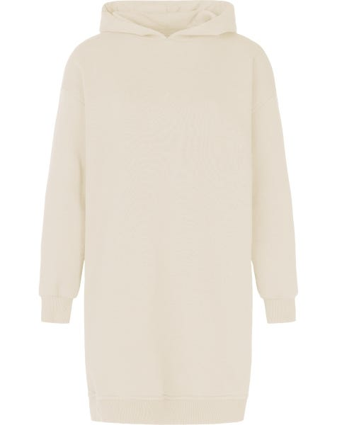 OVERSIZED HOODIE DRESS SAND
