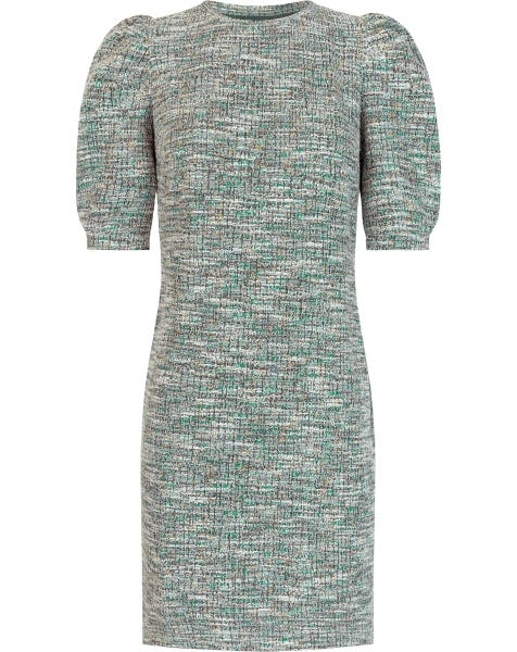 BOUCLE DRESS MINT