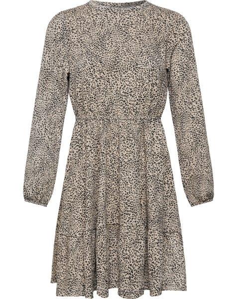 SMALL LEOPARD CRINKLE DRESS
