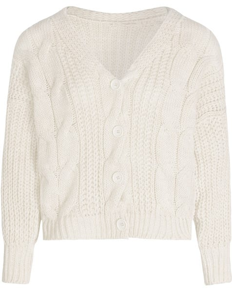 CABLE KNIT CARDIGAN CREAM