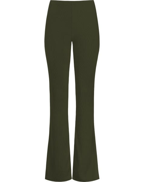 MW RIBBED FLARED PANTS ARMY
