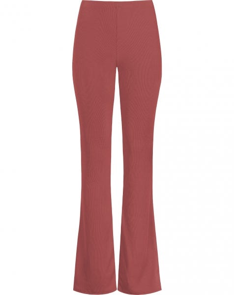 MW RIBBED FLARED PANTS BLUSH