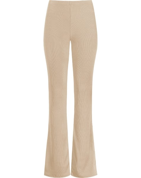 MW RIBBED FLARED PANTS SAND