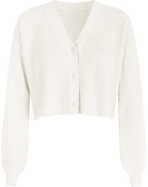 SPARKLE BUTTONS CARDIGAN CREAM