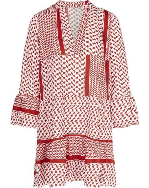 JOLY AZTEC DRESS RED