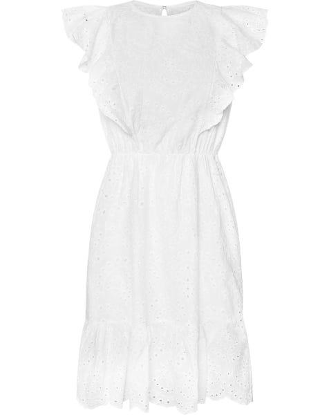 MIA BRODERIE DRESS WHITE