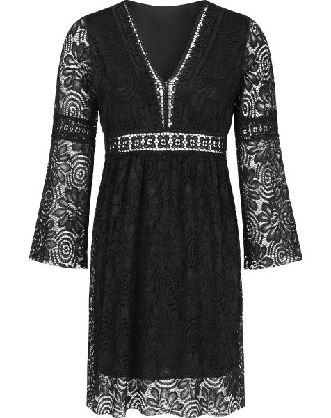 GAIA LACE DRESS BLACK