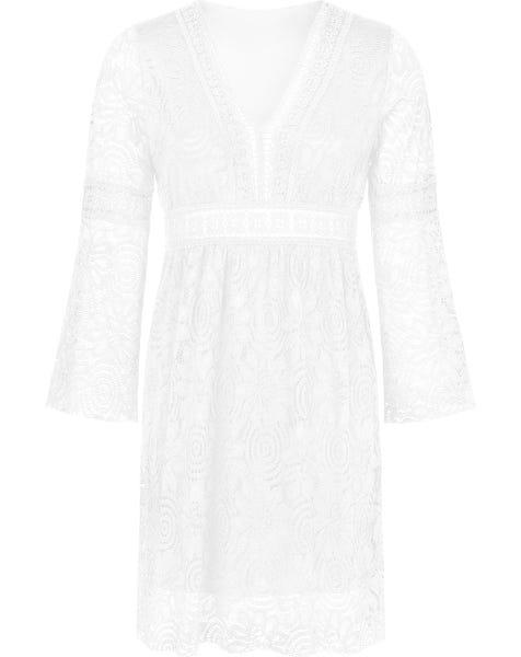 GAIA LACE DRESS WHITE
