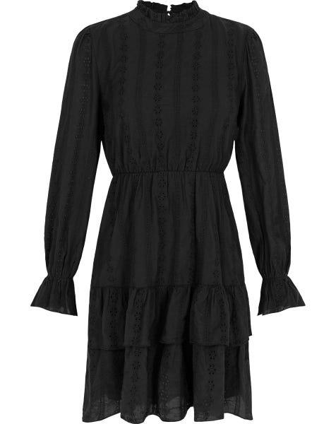SIENNA BRODERIE DRESS BLACK