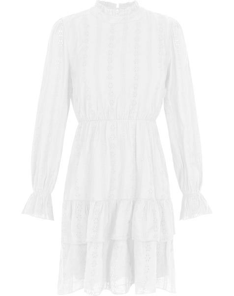 SIENNA BRODERIE DRESS WHITE